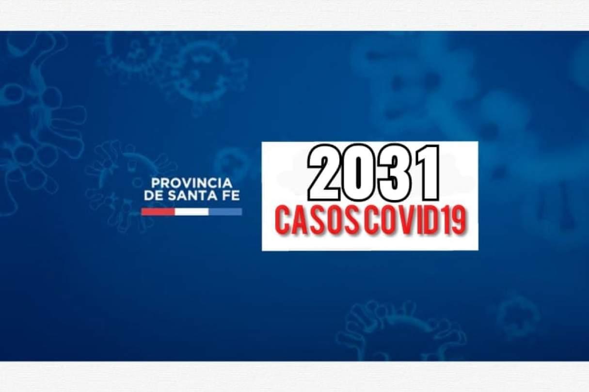 Hoy Santa Fe reportó 2031 casos de Covid19