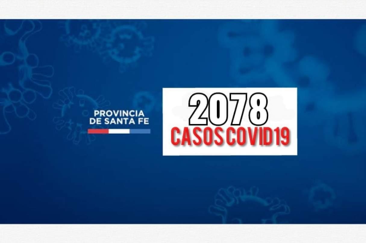 Jornada con 2078 casos de Covid19 en Santa Fe