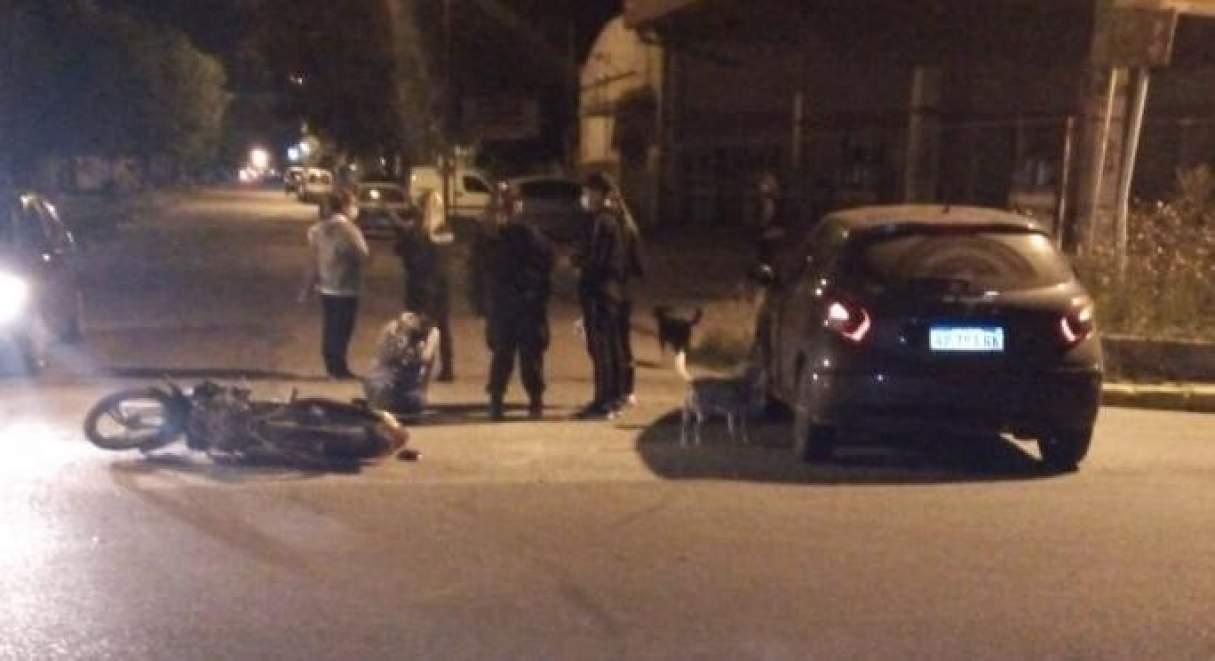 Accidente de tránsito con un herido en Fray Luis Beltrán