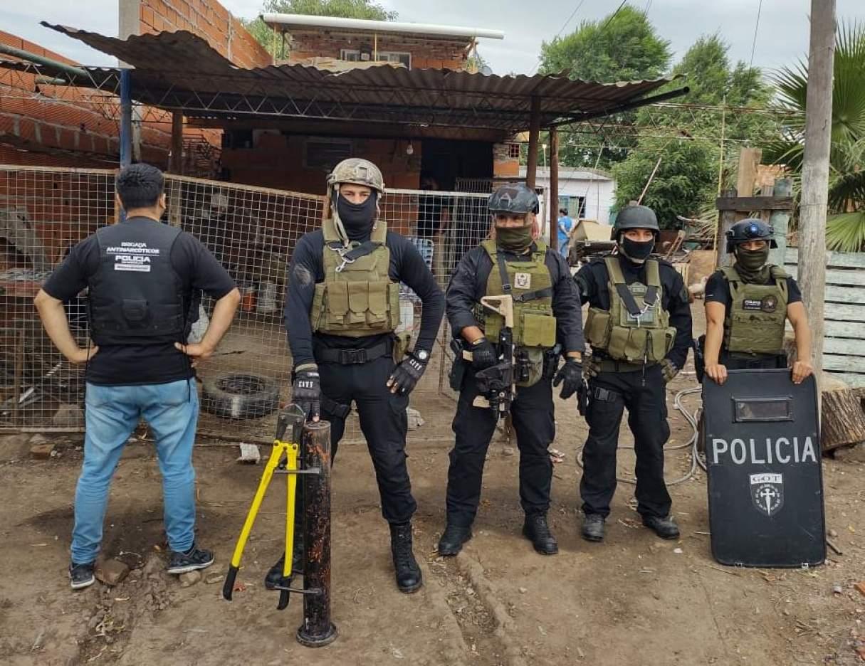 Tras un allanamiento secuestraron cocaína en Puerto San Martín
