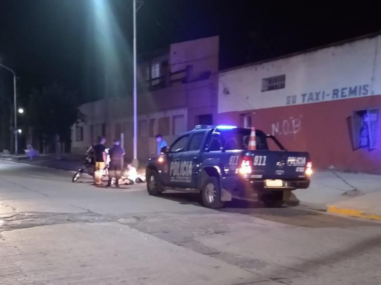 Bermúdez: Delivery chocó con un auto y terminó con heridas leves