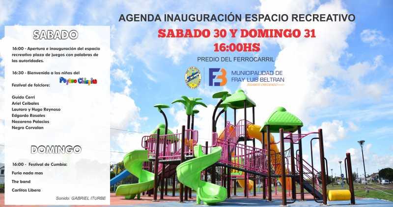 Gran inauguración de una Nueva plaza en Fray Luis Beltrán