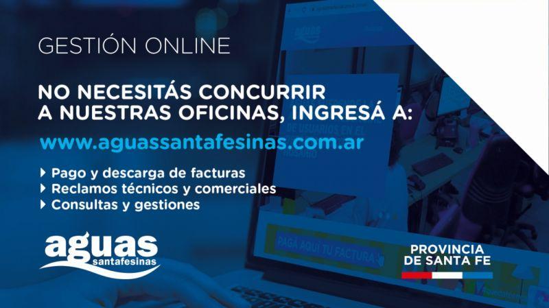 Aguas Santafesinas suspendió la atención en sus oficinas del Gran Rosario