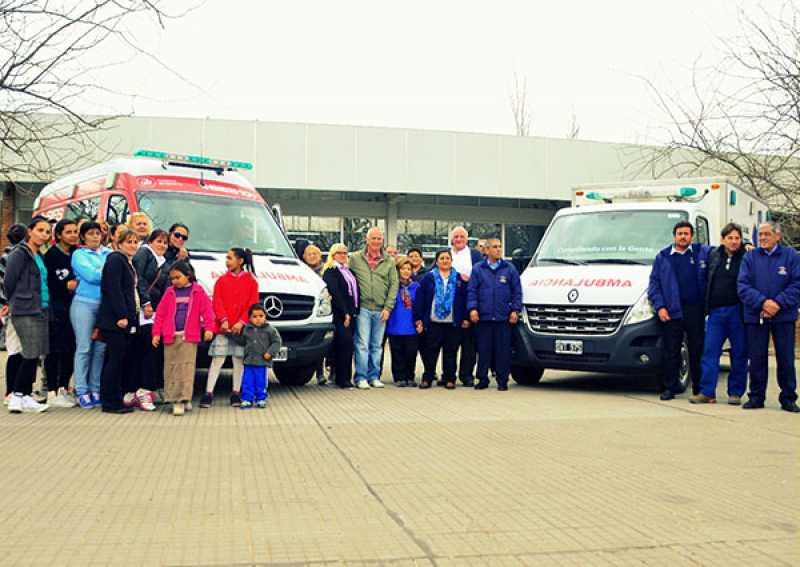 Dos nuevas ambulancias para Puerto Gral. San Martín
