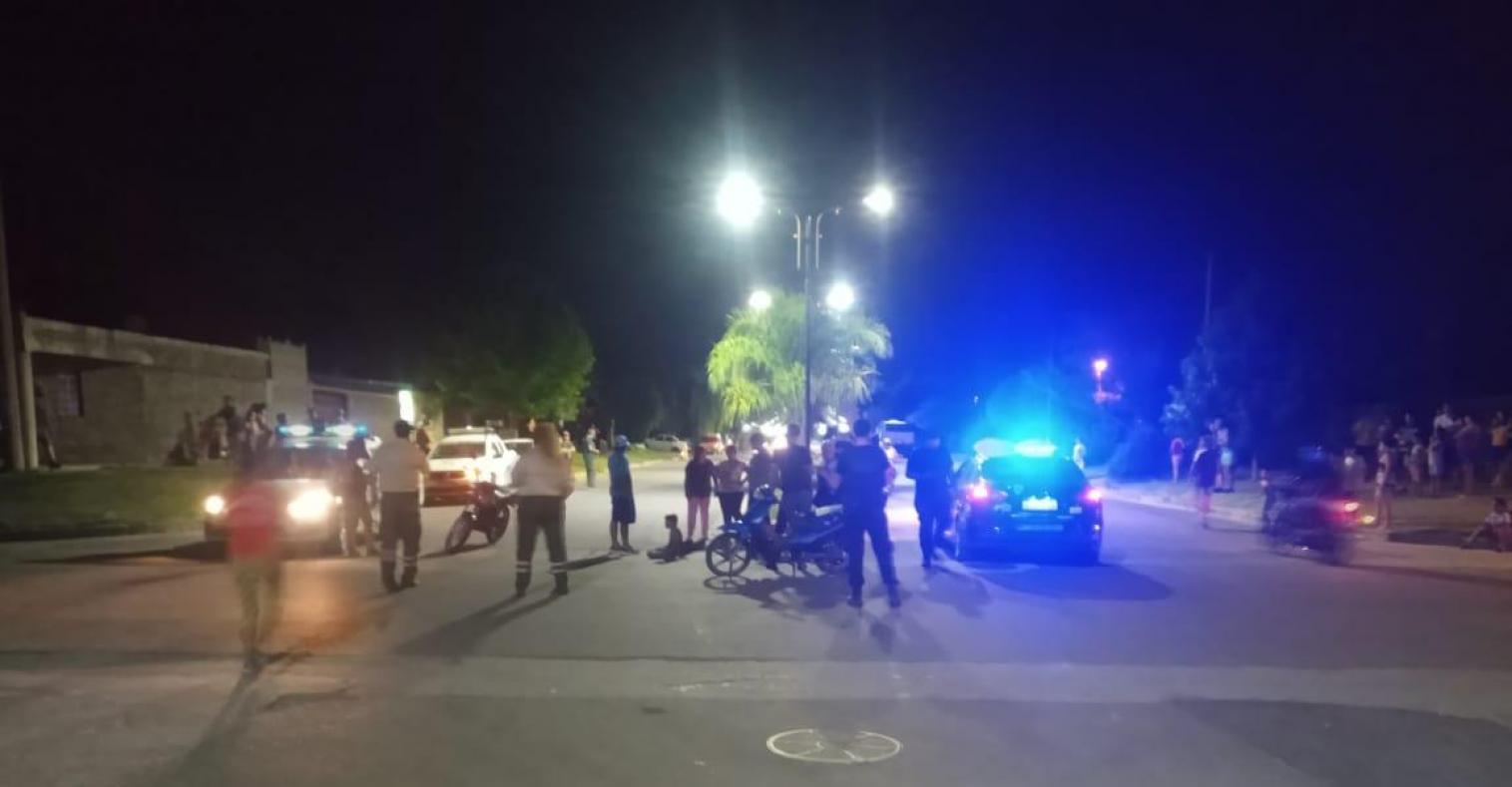 Puerto: Un joven de 15 años conducía una moto, chocó a otra y se escapó