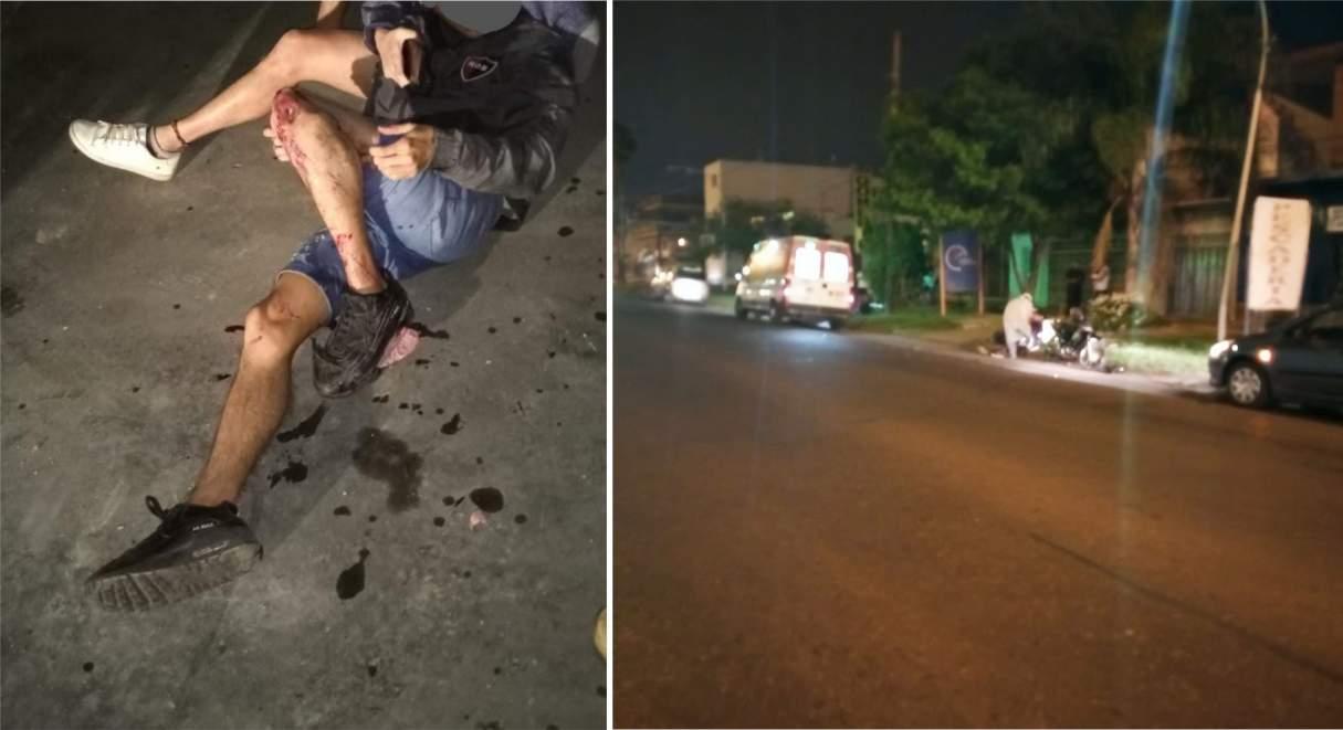 Dos heridos en un accidente entre dos motocicletas