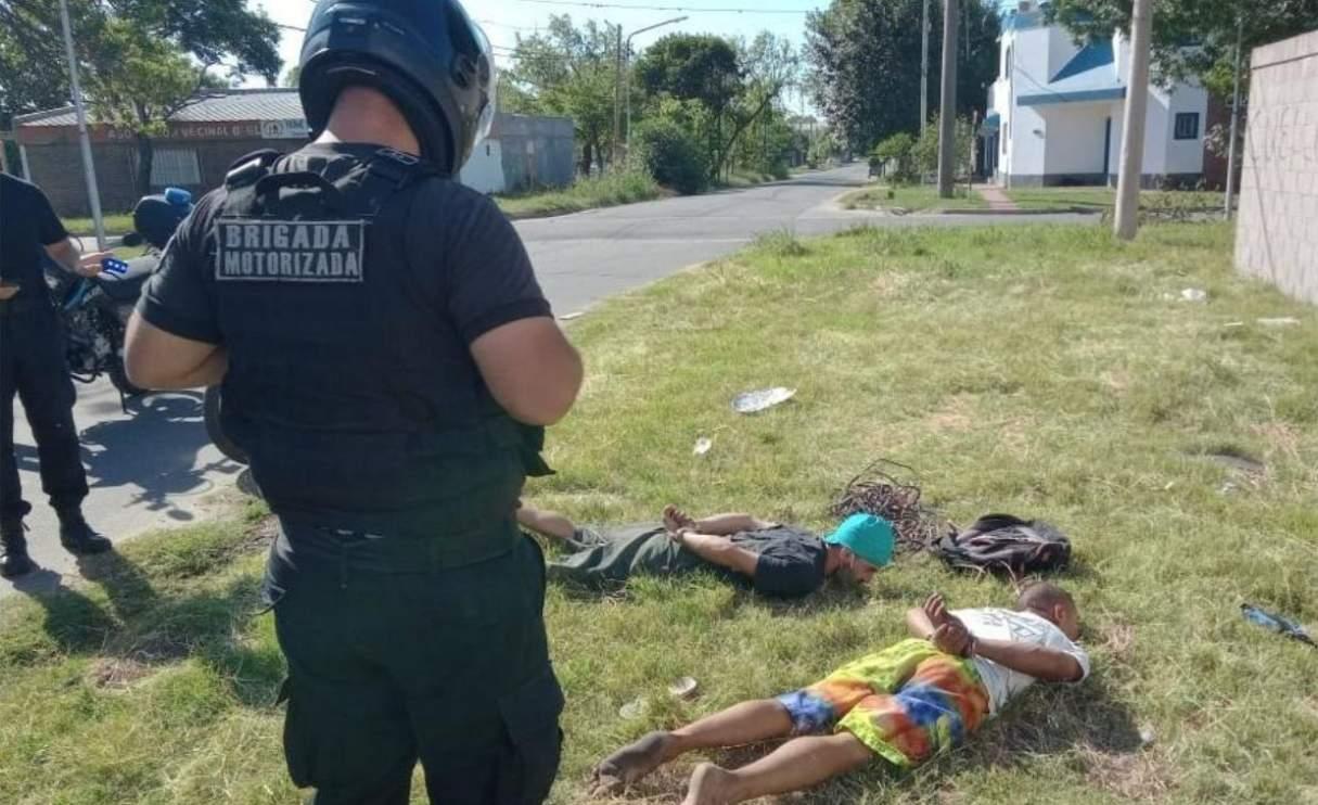 Video: Impactante detención de la policía motorizada de San Lorenzo