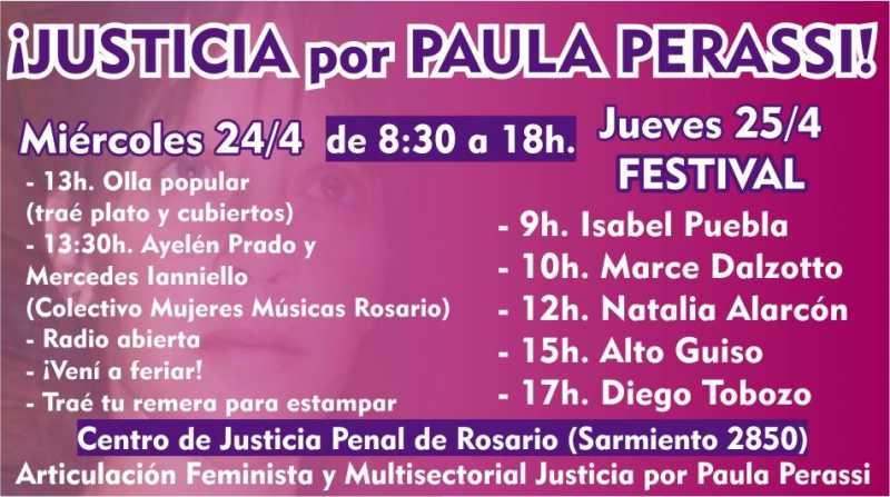 Festival por Justicia por Paula Perassi tras los alegatos