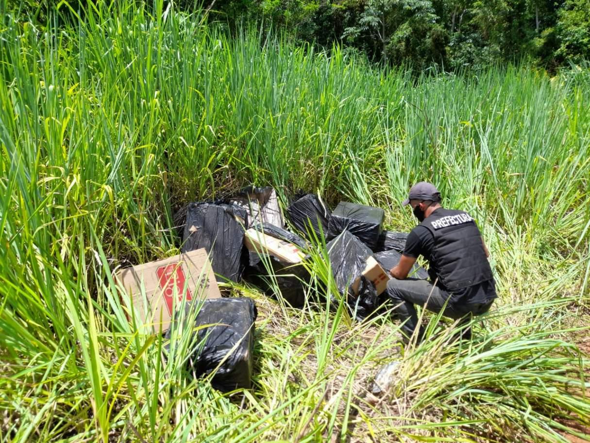 Contrabando en Misiones: Prefectura decomisó un cargamento de cigarrillos ilegales
