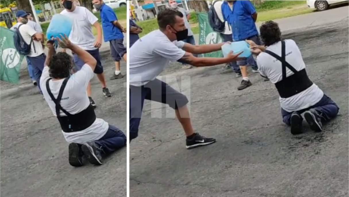 Un trabajador se roció con nafta en en reclamo a Guerrero Motos