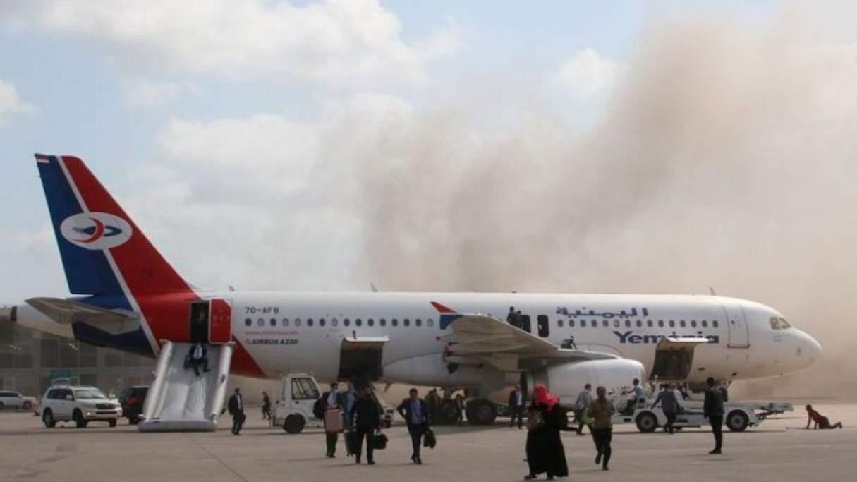 Explosión en el aeropuerto de Yemen