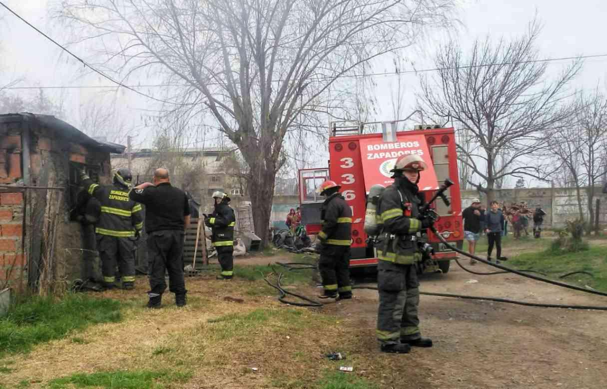 Beltrán: incendio en vivienda de Barrio Retiro