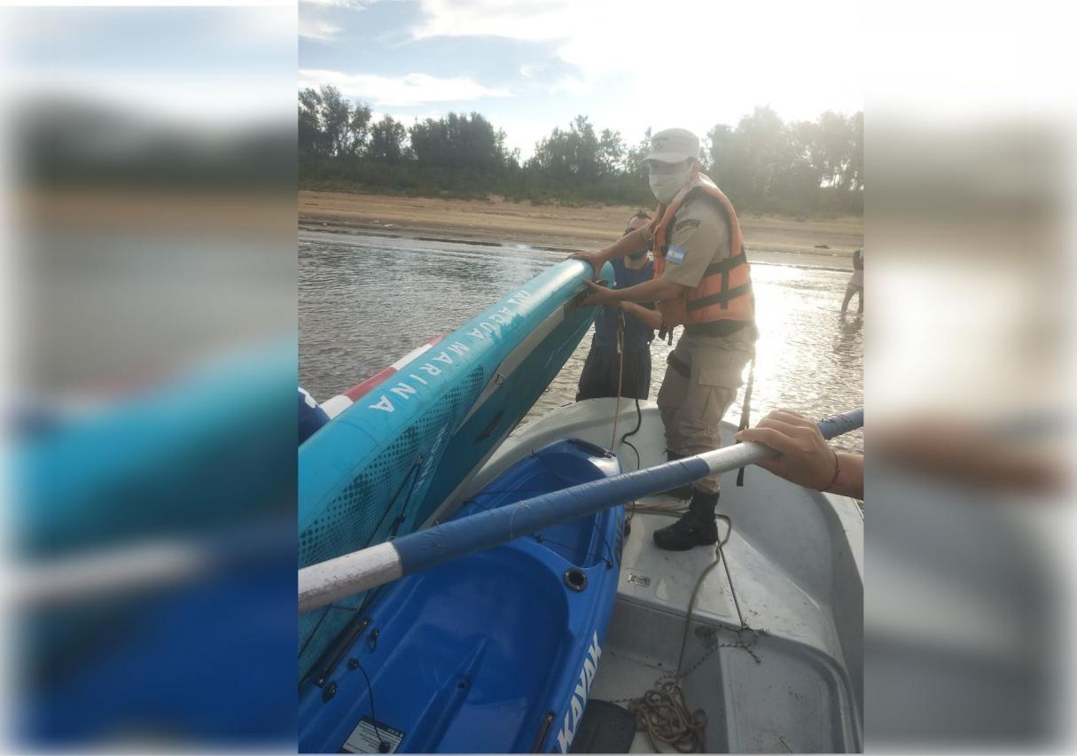 Prefectura rescató a dos kayakistas en Arroyo Seco