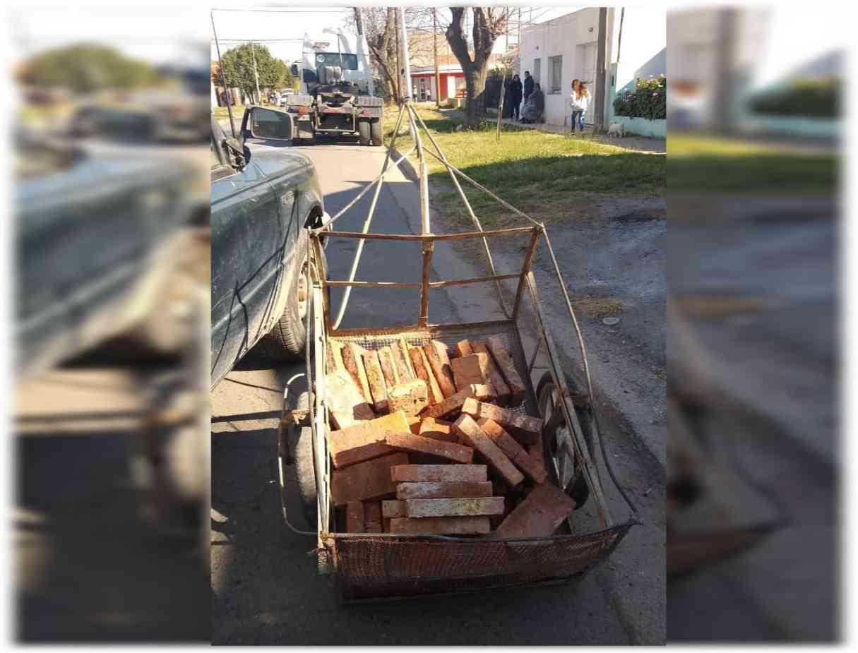 Fue detenido cuando robaba ladrillos de una construcción en San Lorenzo
