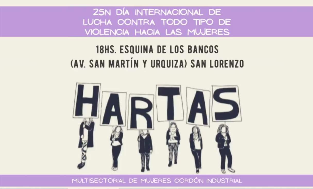 25N: Concentración en San Lorenzo por el Día Internacional contra la Violencia hacia las Mujeres