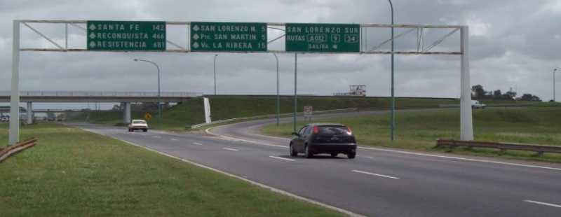 Accidente fatal en Autopista Rosario - Santa Fe