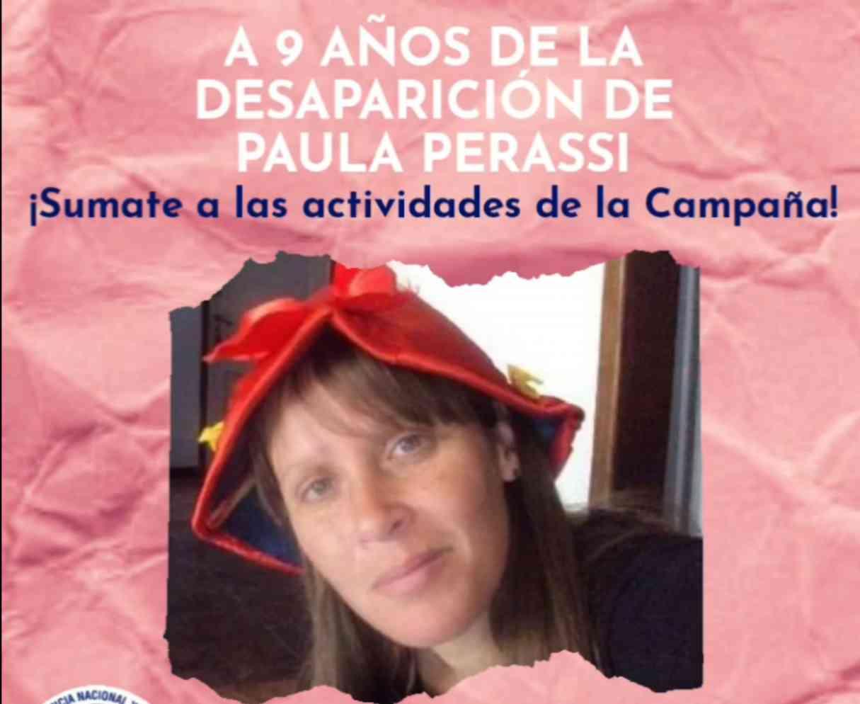 El viernes se realizará un ruidazo en las redes, a 9 años de la desaparición de Paula Perassi
