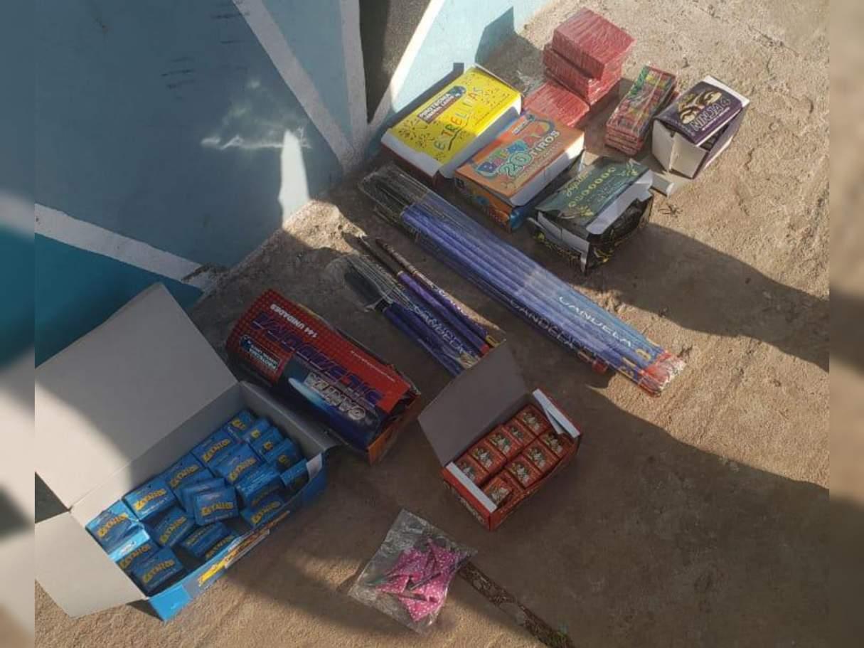 Bermúdez: decomisaron pirotecnia por venta ilegal en un kiosco