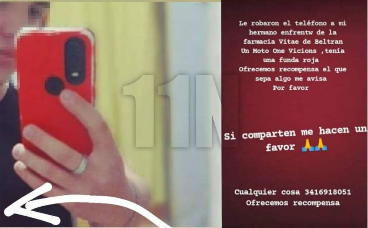 Beltrán: Le robaron el celular a punta de arma y no le tomaron la denuncia