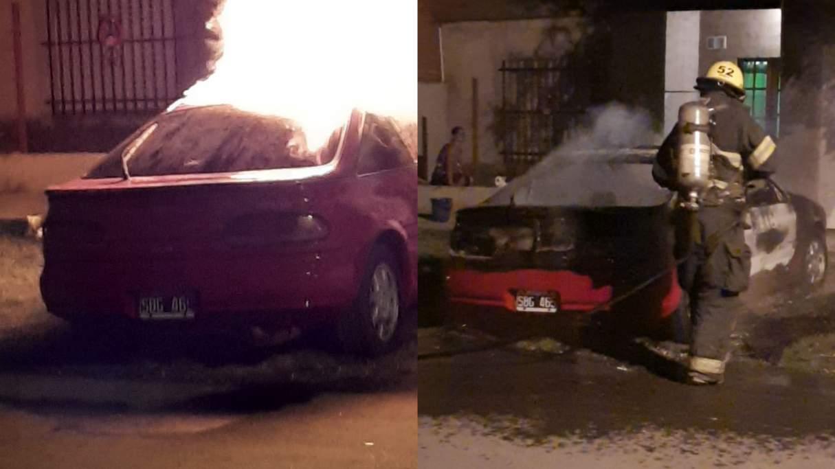 Capitán Bermúdez: se incendió un auto mientras su propietario dormía