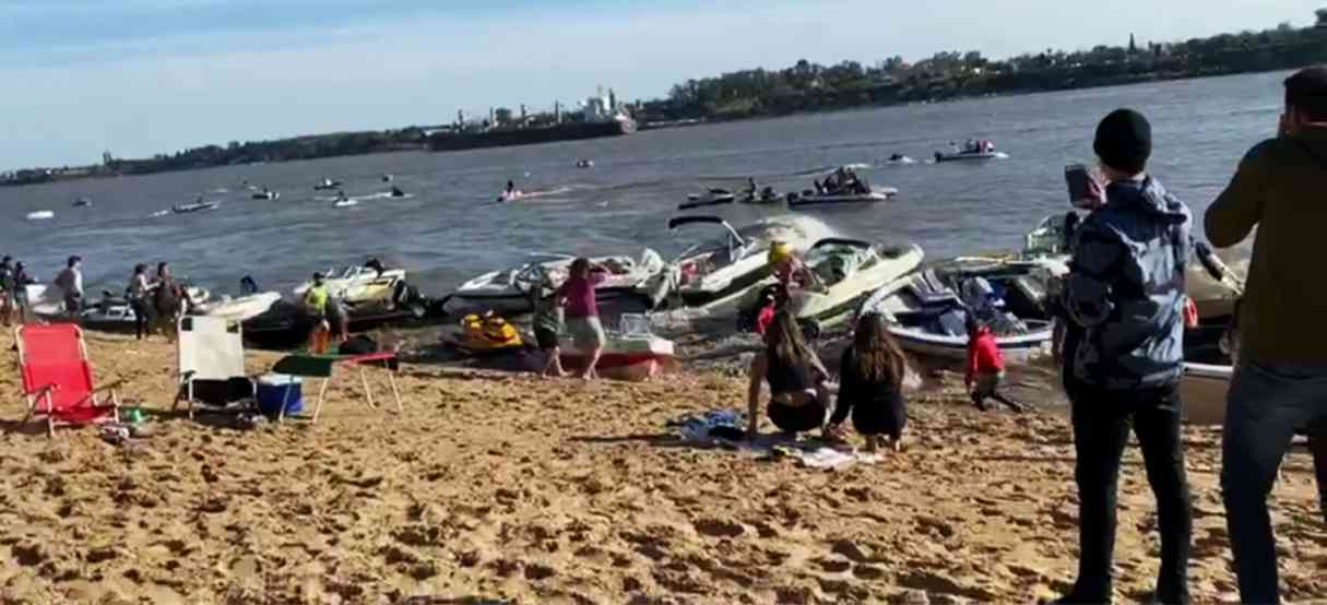 Olas de un buque causaron destrozos en la costa de Puerto Pirata, VIDEO