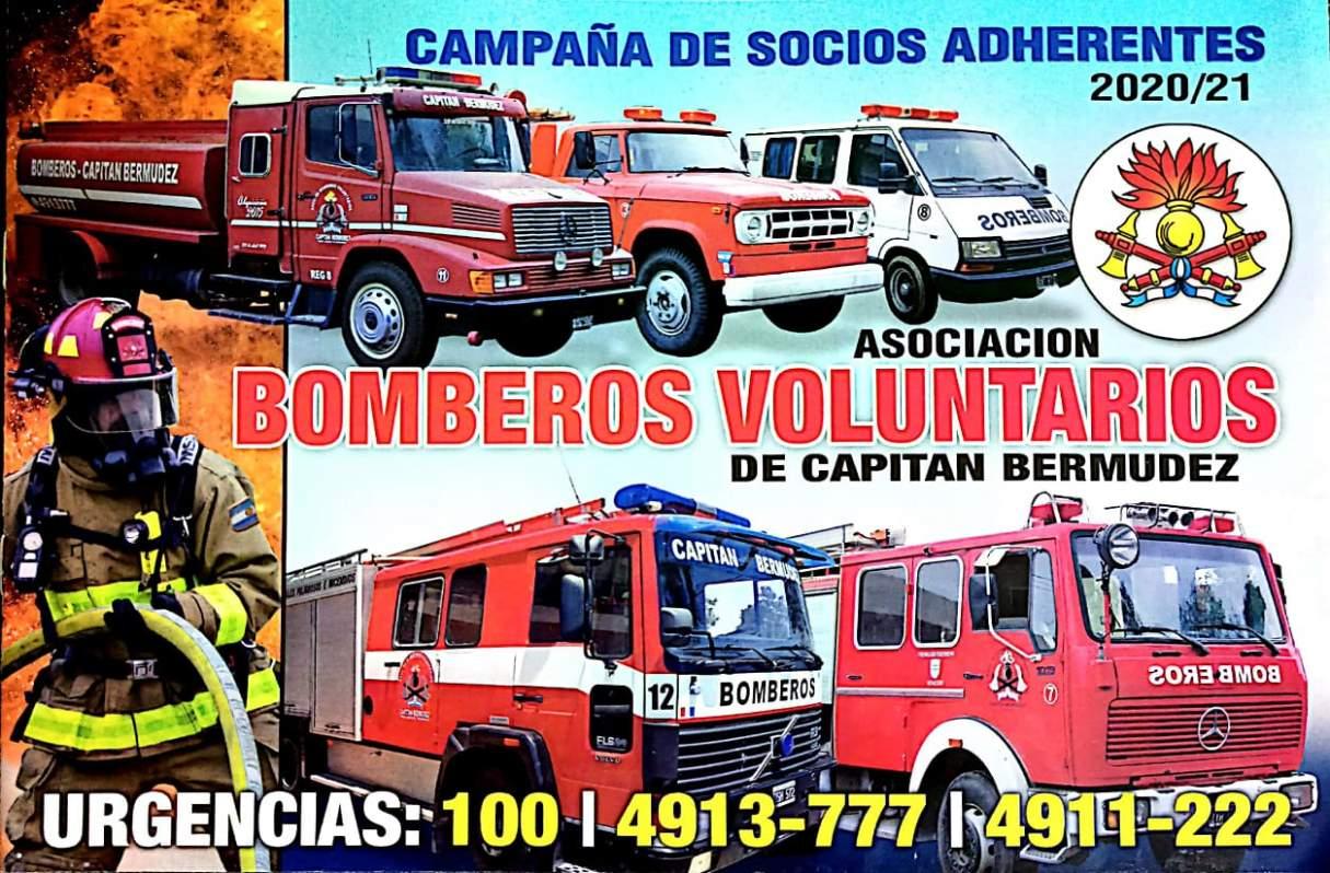Los bomberos de Capitán Bermúdez lanzaron una campaña de socios adherentes