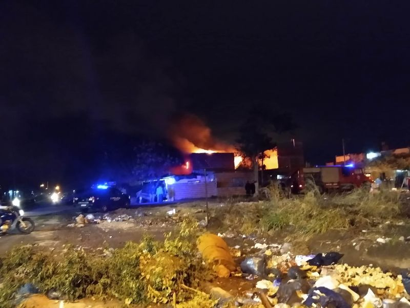 Balacera e incendio en una vivienda de Rosario