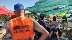 """Puente Rosario-Victoria: Continúa el corte parcial y acampe por la """"Ley de Humedales"""""""