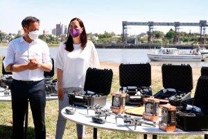 Entregaron drones para los faros de conservación de los humedales
